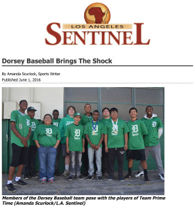 Dorsey Baseball Brings The Shock - Los Angeles Sentinel | Los An